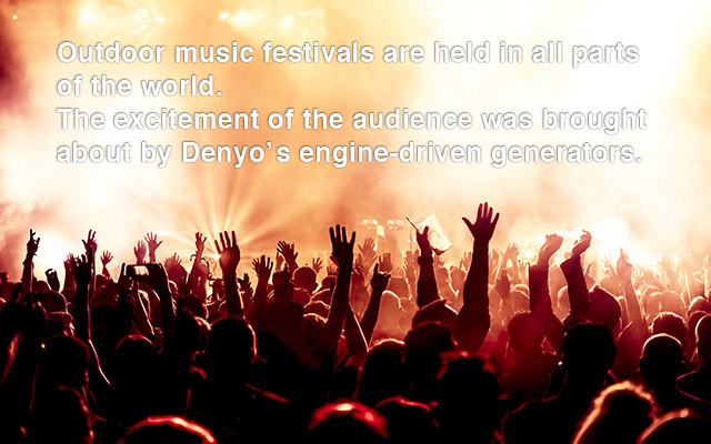 Generators that support outdoor festivals.